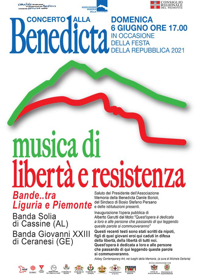 Foto 1 - Domenica 6 giugno ore 17 – Concerto per la Repubblica alla Benedicta